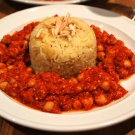 Random image: Chickpeas romesco with saffron garlic rice