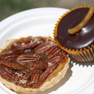 Random image: Pecan tart and jaffa fudge cupcake