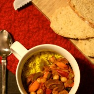 Random image: Basque chickpea and chorizo stew, World Vegan Feast